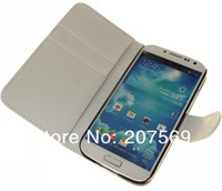 Galaxy s4 case,Wallet Credit Pouch Leather case For Samsung Galaxy s4 i9500 with stand Free Shipping