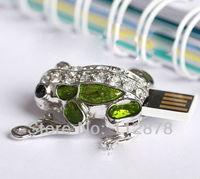 LU207,Genuine 2G/4G/8G/16G/32G flash drive pen drive Green Frog usb flash drive Free shipping+Drop shipping,Full Capacity