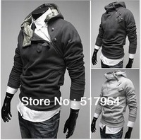 NEW 2013 High Quality  High Collar Men's Coat Top Brand Men's Winter Jackets Men's Autum Dust Coat Outwear 5 Colors Size M-XXXL