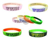 5pcs/lot  Fashion WWJD silicone wristband jesus silicon bracelet Hot Christ bangles Bezaleel Gift wrist band mixed sale