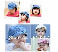 Hot sale! Retail,1piece! Spring and summer cute kids hat,baby cap,infant lovely cricket-cap in 3 colors