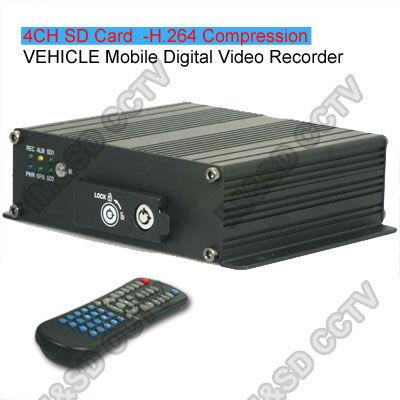 4CH Realtime CCTV H.264 SD card Car MDVR GPS G-SENSOR Mobile Car Vehicle DVR Supports up 2pcs SD Card(China (Mainland))
