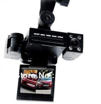 "Dual camera dvr car, Creative Transformers design car cam 2.0""tft lcd ir night vision registrator camera H3000 Video recorder"