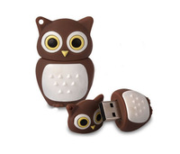 Wholesales genuine cartoon new brown owl 4gb/8gb/16gb/32gb usb 2.0 memory stick pen thumb/drive/gift