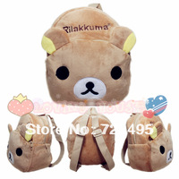 2013 3D rilakkuma the children's cartoons fabric bags /plush  small backpacks for kids/the knapsacks are children's gift