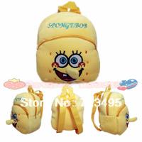 2014 3D spongebob the children's cartoons fabric bags / the knapsacks are children's / plush outdoor backpacks for kids gift /