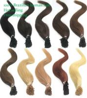 "18"" 20"" 22"" brazilian virgin hair straight keratin i tip virgin human hair extensions honey blonde#27 free shipping"