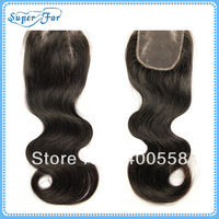 "4""*3.5""Virgin Brazilian hair lace  top closure,body wave,DHL FREE SHIPPING"