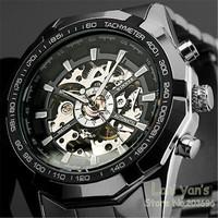 New 2014 WINNER New Luxury Watch Men Luminous Hands Skeleton Auto Mechanical Watches Wristwatch Free Ship