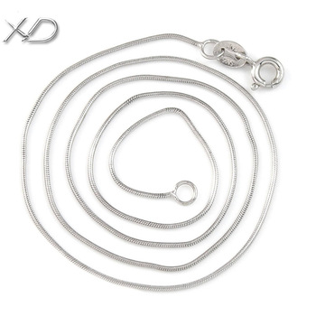 XD Y901 925 sterling silver smooth snake chains necklace fashion lovers chain necklace