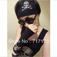 Hot Selling Trend  skull  headband hiphop high elastic hair band bandana Hairwear Free shipping
