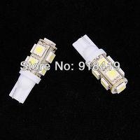 Free shipping 2 Pcs Pure White T10 9 LED 5050 SMD 194 168 W5W Car Side Tail Light Bulb Lamp