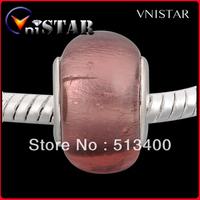 Free shipping!Vnistar Purple Foil Glass 10 mm Round European Lampwork Beads For Bracelets (PGB104) 60 Pieces Each Lot