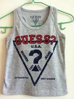 Boys girls summer sleeveless T-shirt  print  kids vest 100% cotton Letter fashion Vest sweet girl wholesale 5PCS