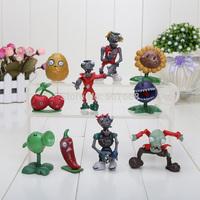 Free Shipping 10 pcs/set Plants Vs Zombies PVZ Collection PVC Figures NEW Wholesale and Retail