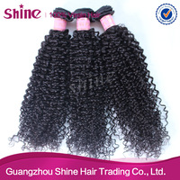 Grade 5A top quality of curly human hair extensions machine weft