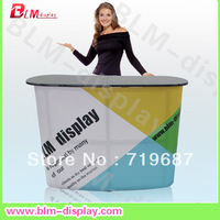 Direct  Manufacture Aluminum frame  Pop Up Promotion Counter for printed your logo Rack