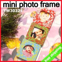 FREE SHIPPING Wooden Photo Frame Kids Children Gift Fridge Magnets Mini Magnets Eco Paint Baby Show 60pcs/lot say hi 30324
