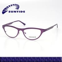 (BAMBU) Fashion show style Stainless steel Cat eyes optical eyewear frame