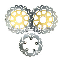 Full Set Front+Rear Brake Disc Rotor For SUZUKI GSXR GSX-R 600 750 GSXR600 GSXR750 04-05 2004 2005