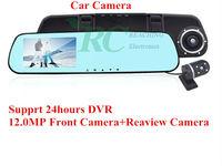 2014 new mirror Car Dvr gps Rearview H1080P waterproof Parking Back Up DVR G-sensor PIP H.264 Dual Lens Blue Mirror Car DVR H238