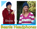 DHL FREE SHIPPING~50pcs/lot~Beanie Headphones~4colors~Hats with headphones~headphone beanie~Beanie Headphone Hat~FOR ALL SPROTS