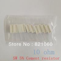 5W 10 ohm +/-5% Cement resistor / 5W 10R ohm 5% Cement resistance / Ceramic resistor (10pcs/lot)
