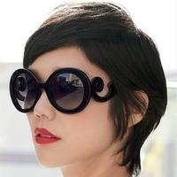 Baroque vintage leopard print sunglasses big black box male Women sunglasses
