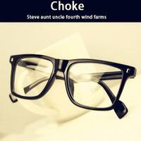 2013 vintage big black plain mirror box glasses frame myopia spectacle frame
