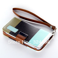 DHL Free Shipping 100pcs/lot Newest pu Leather Wallet Flip Pouch Stand Case Covers accessories For iphone 5 5G 5th