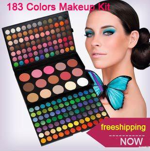 183 Color Combo Makeup Palette Kit 168 Eyeshadow 6 Color Bronzer 9Color Blusher Makeup Artist Set Free Shipping(China (Mainland))