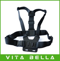 Action Camera Adjustable GoPro Chest Mount Harness ,Chesty Strap For GoPro HD Hero, Hero2, Hero3, Free Shipping
