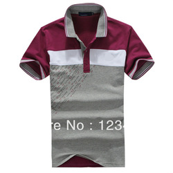 New 2013 Fashion Mens Brand Shirt Polos T Shirt For Men Free Shipping Man T Shirts Lapel Men&#39;s Casual Shirt Size M L XL XXL(China (Mainland))