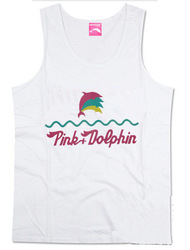 Free shipping cheap man&#39;s vest fashion casual Pink Dolphin tank tops hip hop clothing for summer(China (Mainland))