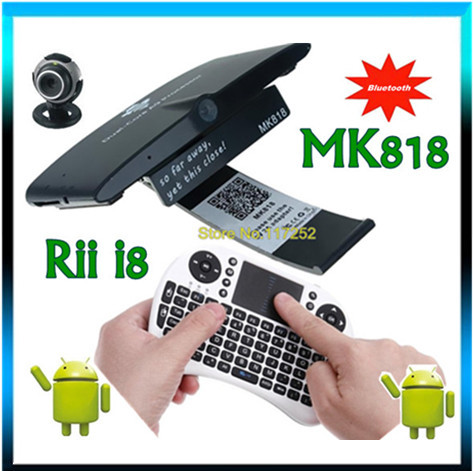MK818 Bluetooth Android 4.1 dual core RK3066 A9 TV BOX Mini pc built in Microphone Headphone Camera + Rii i8 touchpad air mouse(China (Mainland))