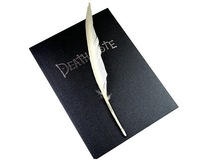 Cute Death Note Style Notebook with Goose Quill & Music CD (75-Page)