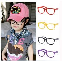 Korean Style Lovely wayfarer Optical Frame Fashion Candy Color Kids Glasses Frame Mixed color No lens Glasses 20pcs/lot