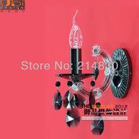 Free Shipping Brief fashion 1 light wall lamp crystal wall lamp bedroom lamp wall lamp,Black Pearl crystal