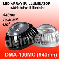2.5 Inch 3800mW 940nm 70-80 msq LED 0ne-Array Invisible Indoor IR Illuminator