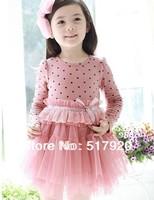 2013 spring new girl fashion cake princess gauze dress 2 colour 5pc/lot # 01
