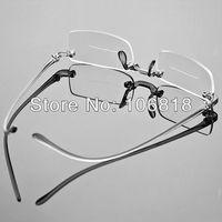 1x Frameless Light Bifocal Reading Glasses Reader Eyeglass Fashion Men Woman Case +2.00