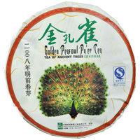 Free shipping sencha Golden phoenix puer  ,the abor earlier spring old pu erh tea collection ,  YunNan premium puerh