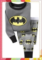 Wholesale 6sets/lot Baby Boy/Girl Cartoon BATMAN design sleepwear Kids top+pants 2pcs set Children cute pajamas/pyjamas 300style