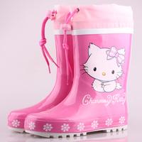 Kitty HELLO KITTY child rain boots female child rainboots water shoes fashion rubber boots rain shoes