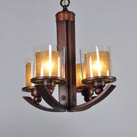 free shipping Bronze lamps American Pastoral European bedroom lights Children's room light British chandelier 4 headlights