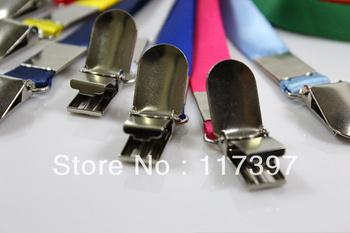 Free Shipping Badge Holder Metal Clip  Straps Neck Lanyard  ID Card Badge Holder Strap 15MM 20pcs /LOT NEW