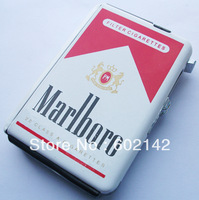 Free shipping! Automatic Ejection Butane Lighter Somking Cigarette Case hold 10 pcs cigarette Random