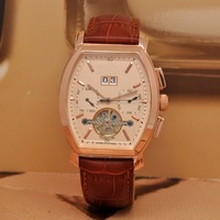 Free Shipping+2013Hot new luxury business and leisure fashion barrel-type automatic mechanical belt men's watches
