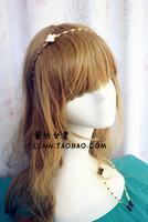 Fashion korean style gold Lovely flower waves hair barrette elastic headbands bridal wedding hair accessories for women