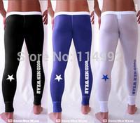 Superbody men's long underwear underpants waist Leggings modal ultra-thin nine GMW printing